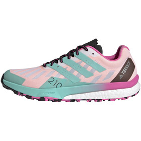 adidas TERREX Speed Ultra Trail Running Shoes Women, feather white/acid mint/screaming pink
